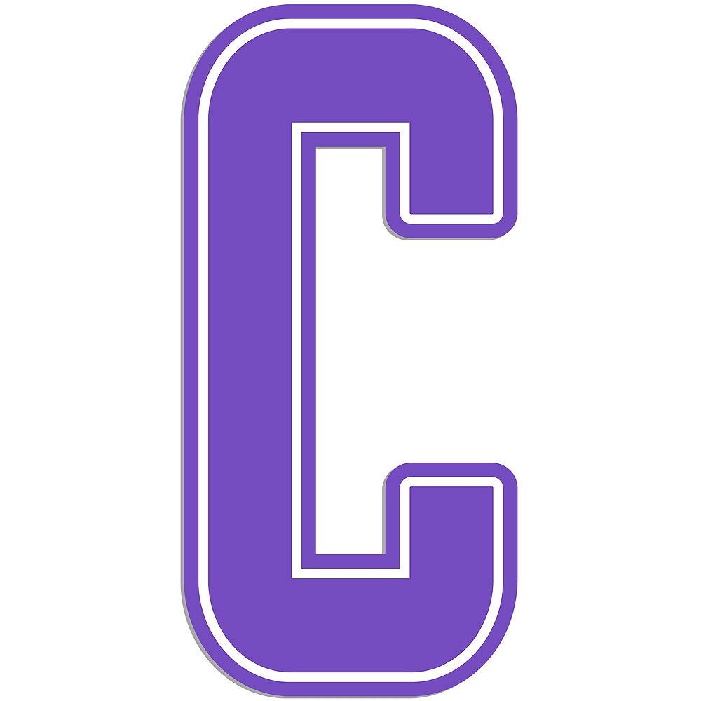 Giant Purple C Letter Outdoor Sign Image #1