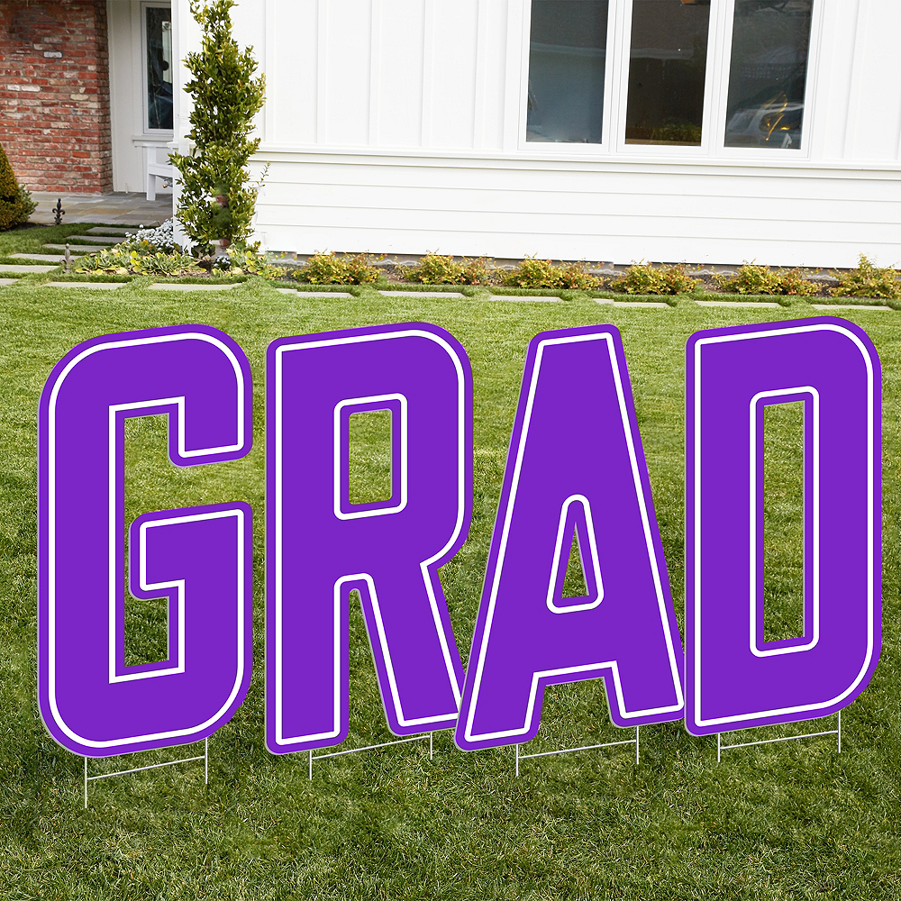 Giant Purple H Letter Outdoor Sign Image #2