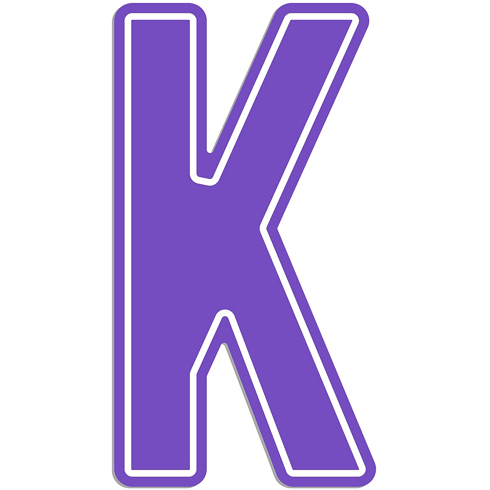Giant Purple K Letter Outdoor Sign Image #1