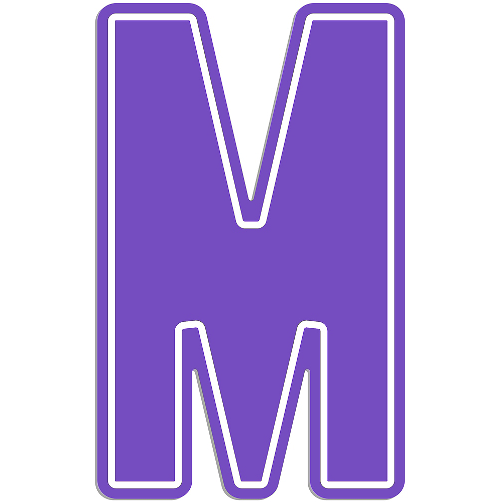 Giant Purple M Letter Outdoor Sign Image #1