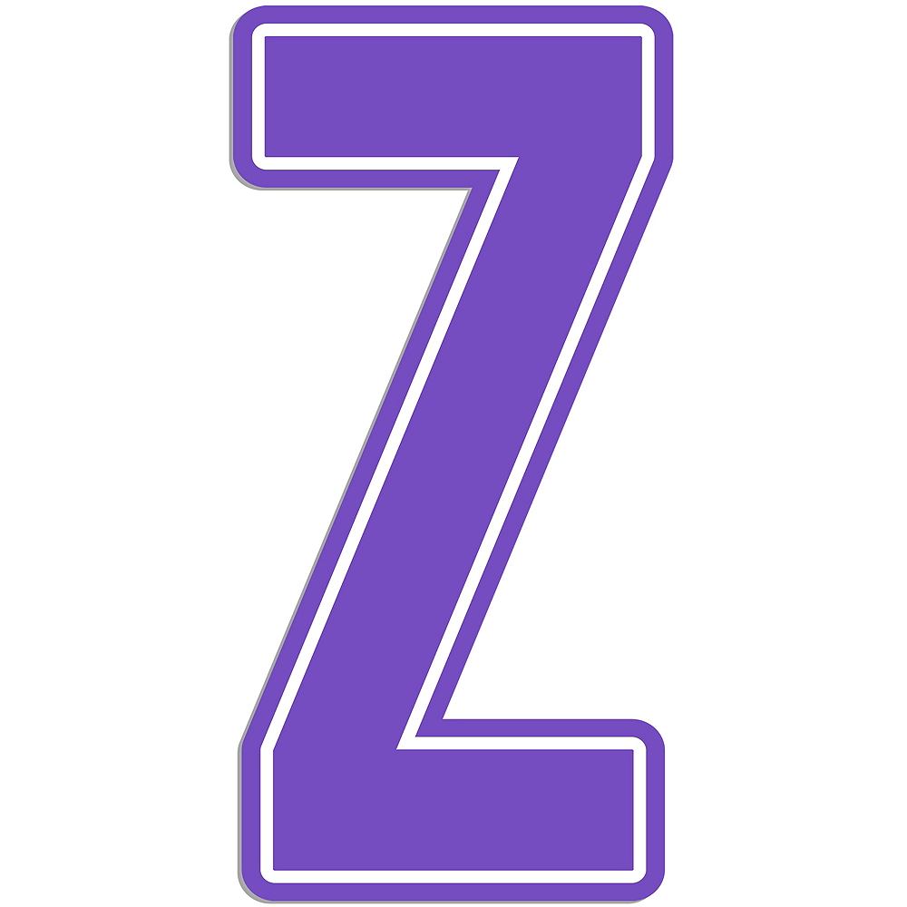 Giant Purple Z Letter Outdoor Sign Image #1