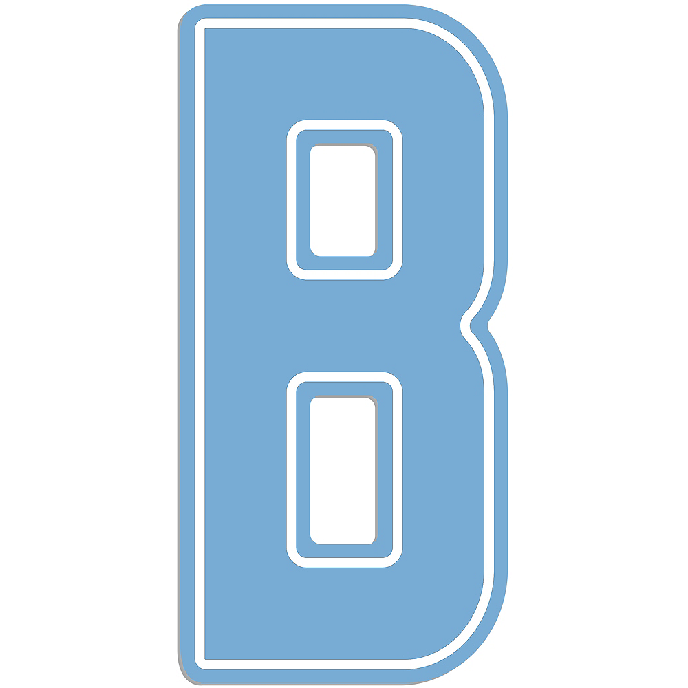Giant Pastel Blue B Letter Outdoor Sign Image #1