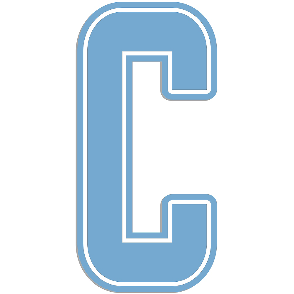 Giant Pastel Blue C Letter Outdoor Sign Image #1
