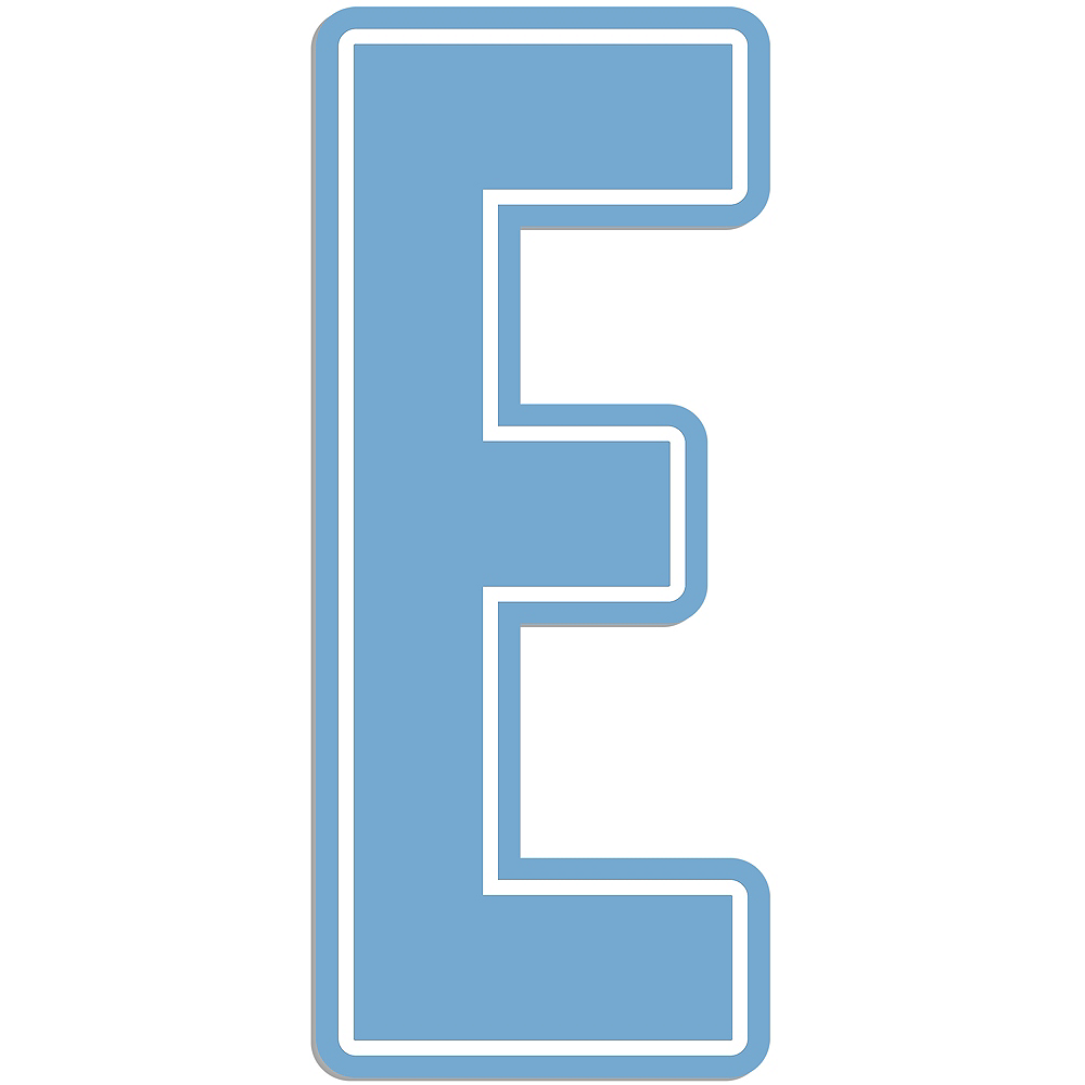 Giant Pastel Blue E Letter Outdoor Sign Image #1