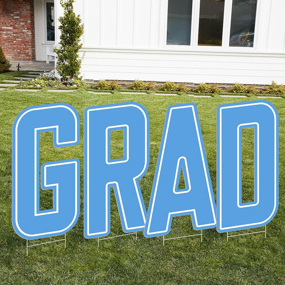 Giant Pastel Blue E Letter Outdoor Sign Image #2