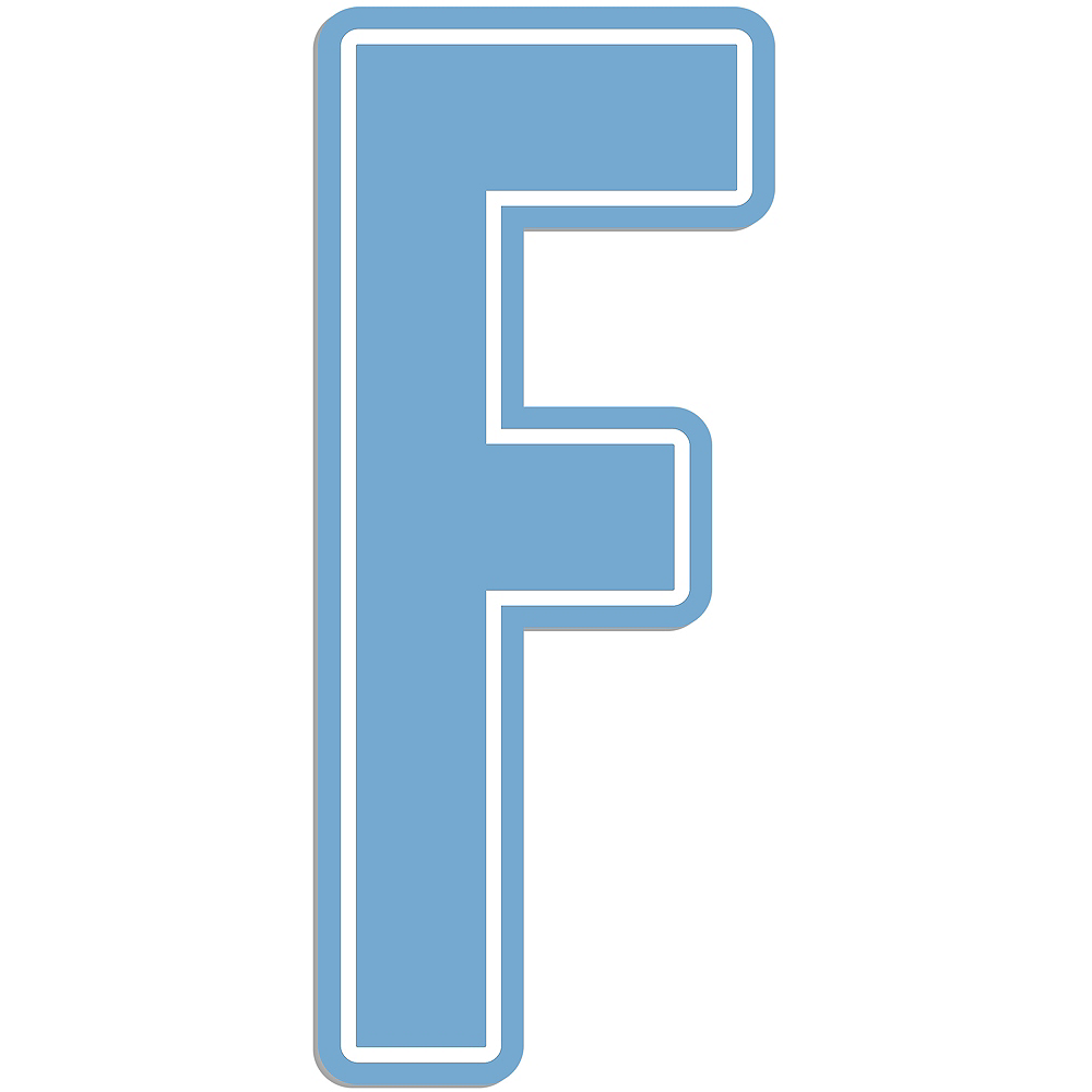 Giant Pastel Blue F Letter Outdoor Sign Image #1