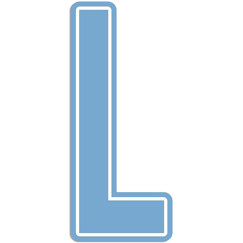 Giant Pastel Blue L Letter Outdoor Sign Image #1