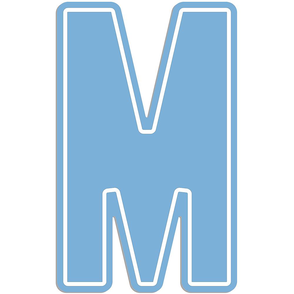 Giant Pastel Blue M Letter Outdoor Sign Image #1