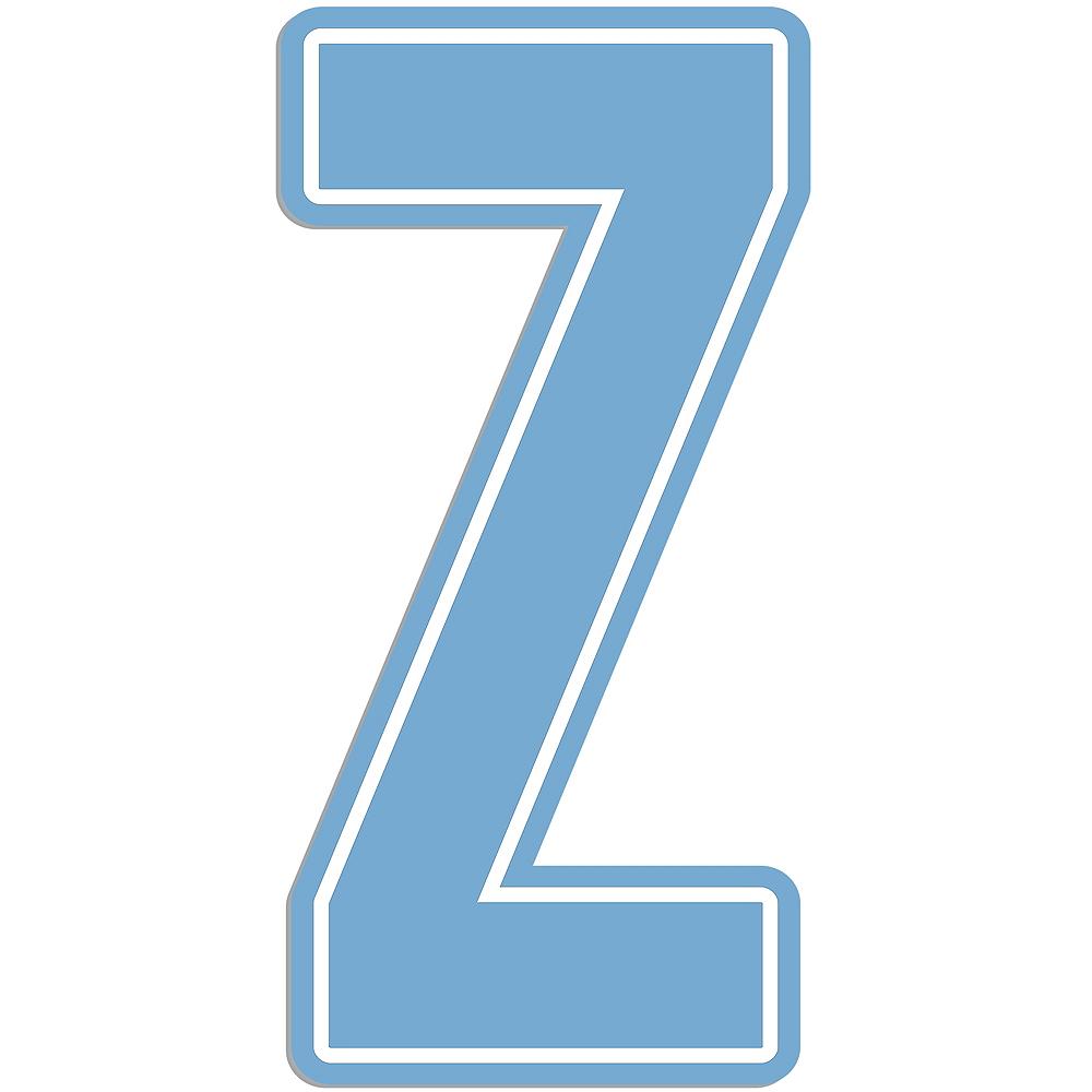 Giant Pastel Blue Z Letter Outdoor Sign Image #1