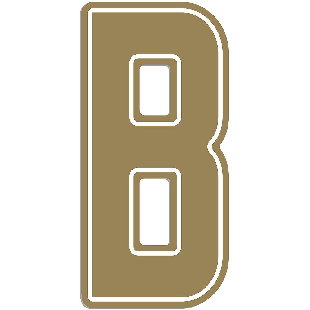 Giant Gold B Letter Outdoor Sign Image #1