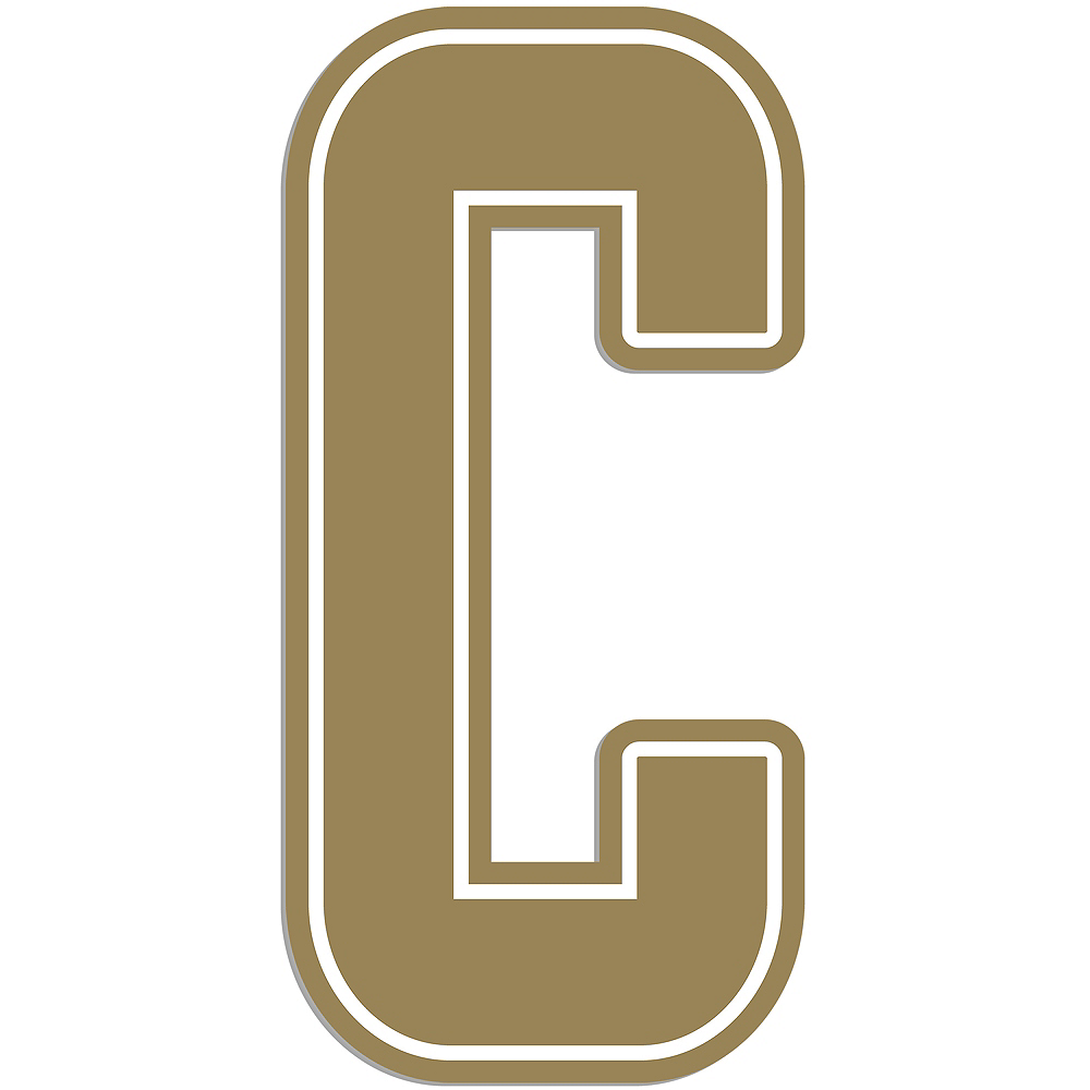 Giant Gold C Letter Outdoor Sign Image #1