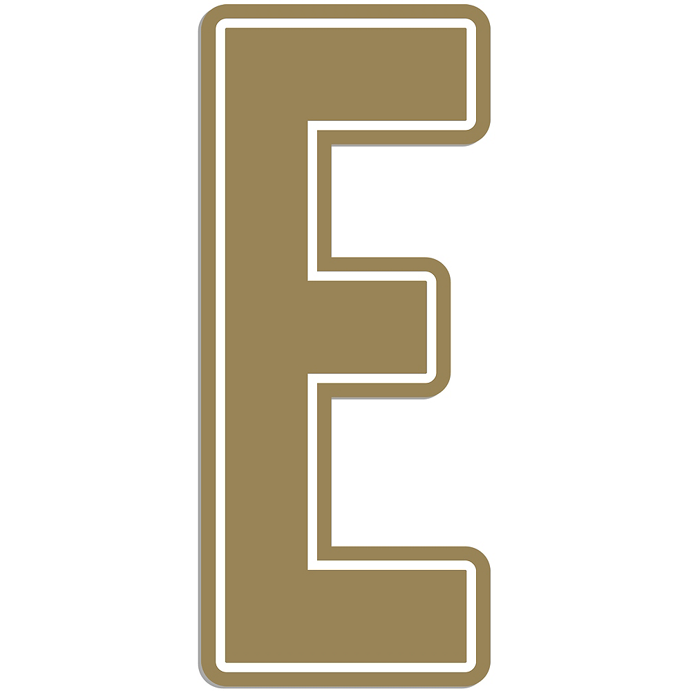 Giant Gold E Letter Outdoor Sign Image #1