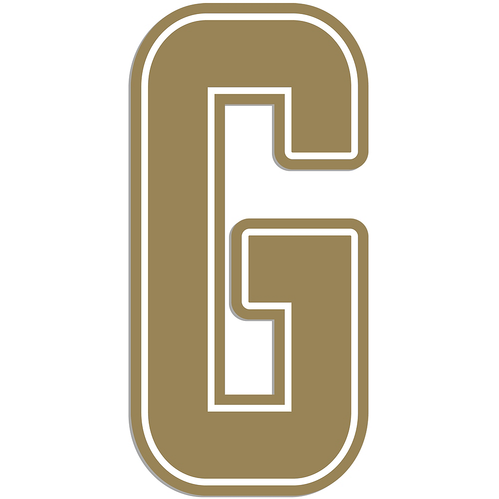 Giant Gold G Letter Outdoor Sign Image #1