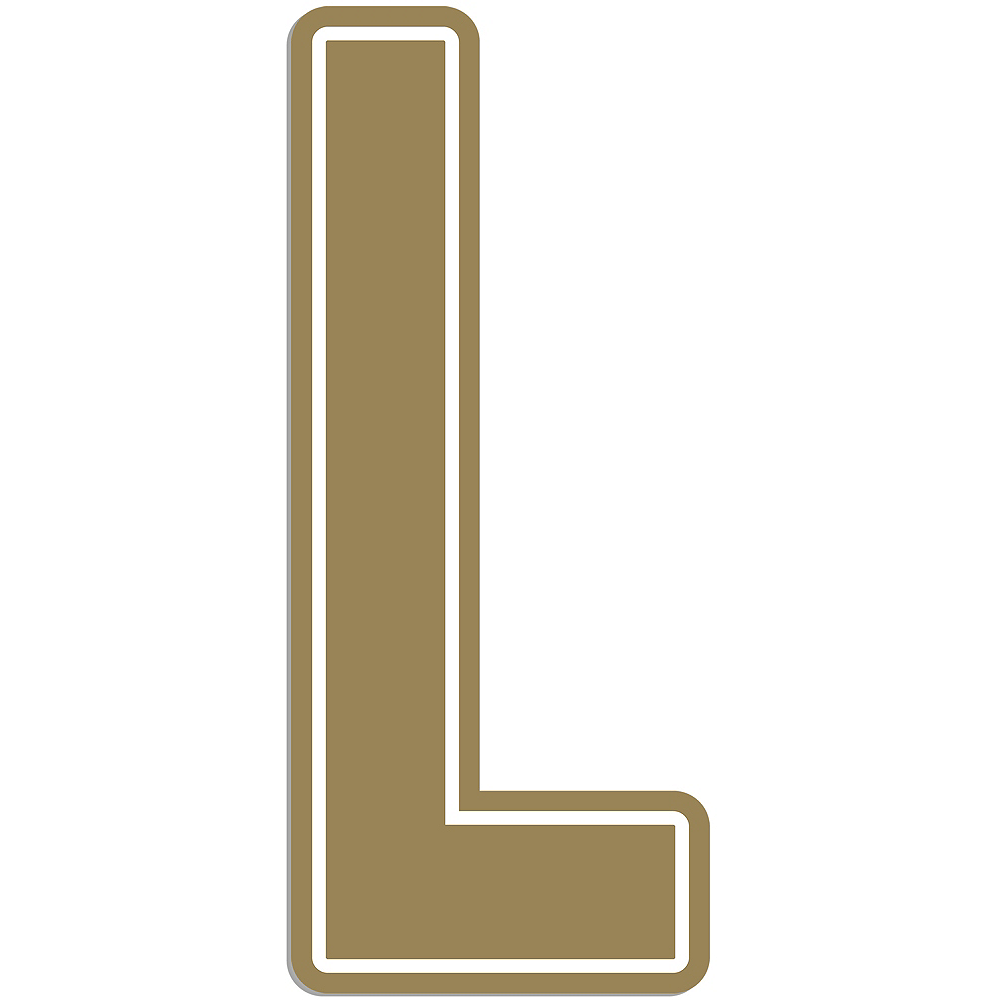 Giant Gold L Letter Outdoor Sign Image #1