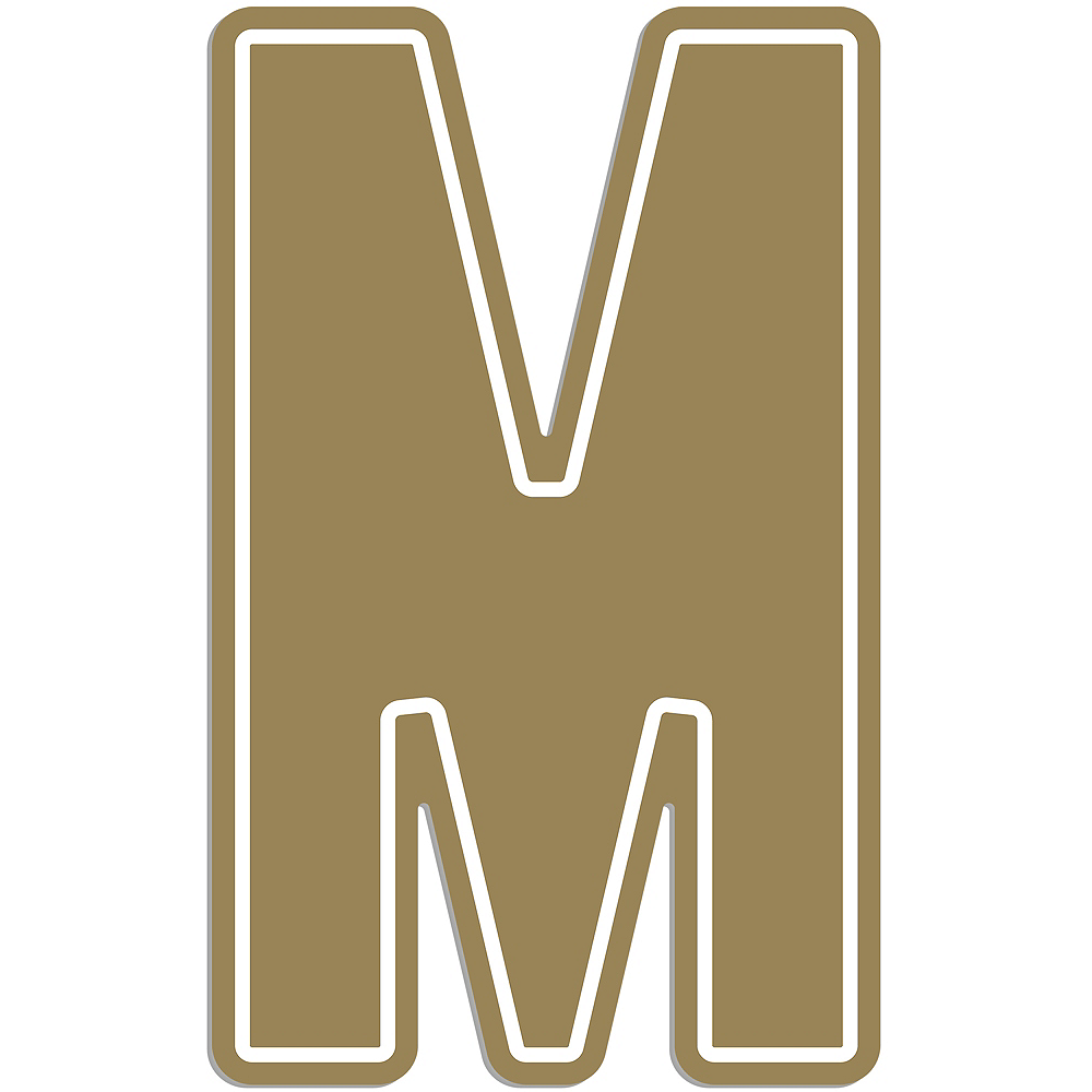 Giant Gold M Letter Outdoor Sign Image #1