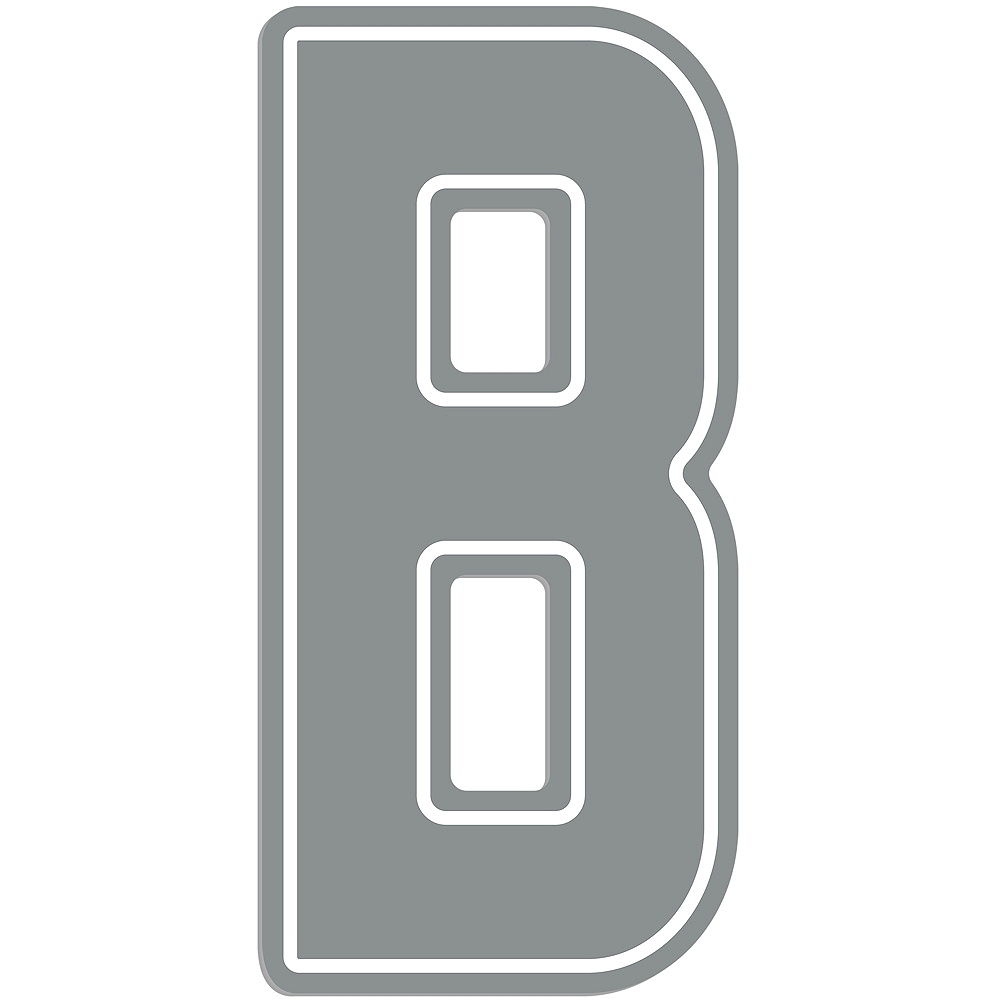 Giant Silver B Letter Outdoor Sign Image #1