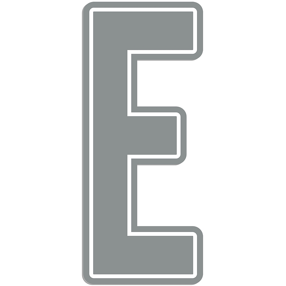 Giant Silver E Letter Outdoor Sign Image #1