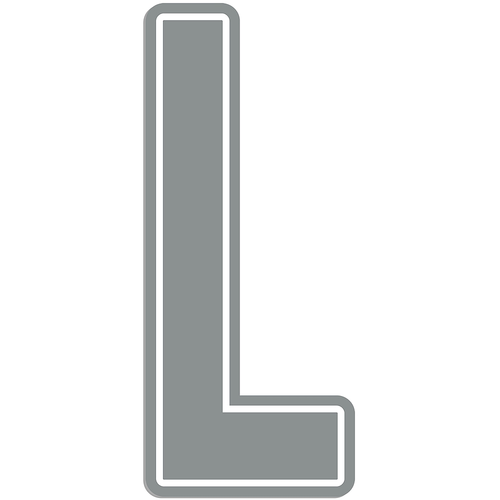 Giant Silver L Letter Outdoor Sign Image #1