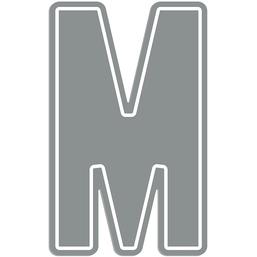 Giant Silver M Letter Outdoor Sign Image #1
