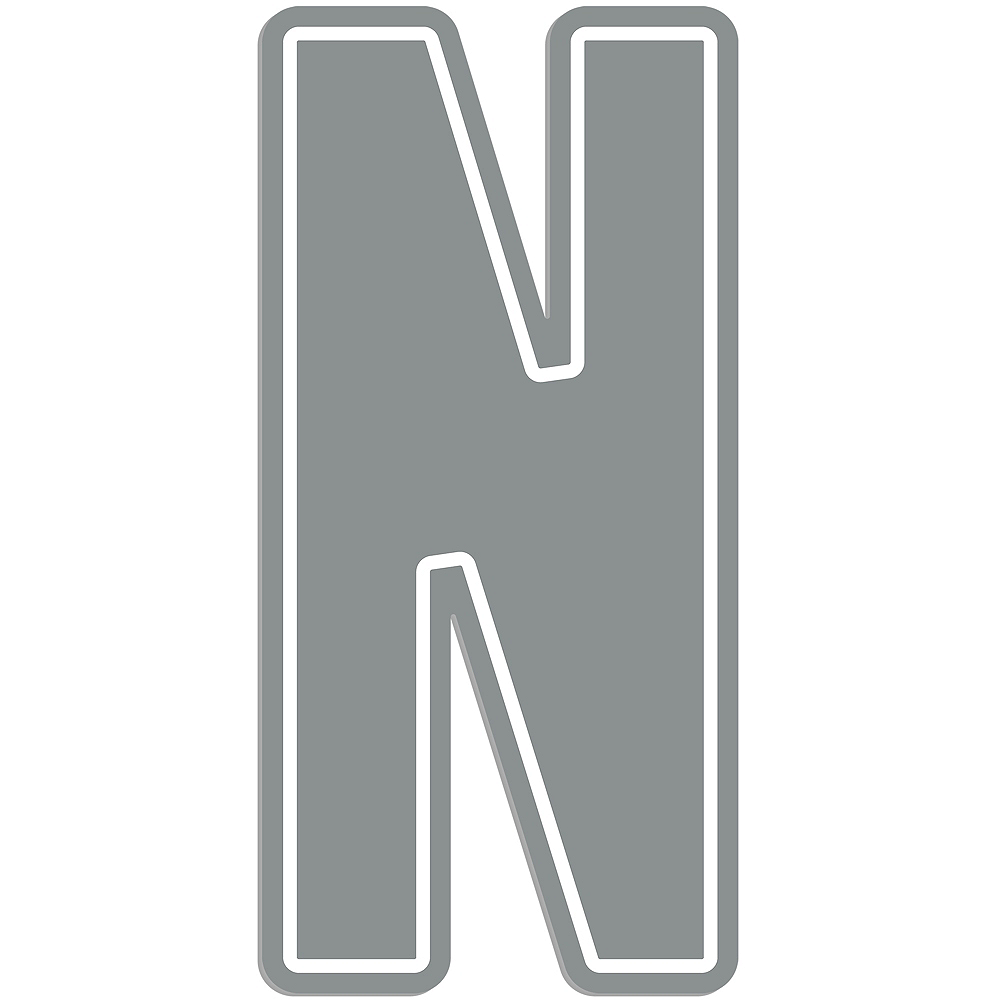 Giant Silver N Letter Outdoor Sign Image #1