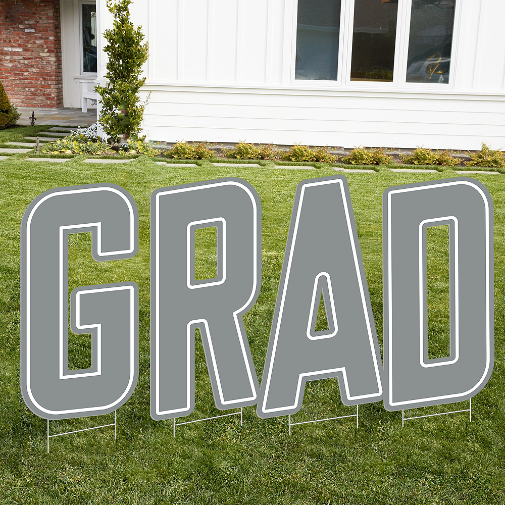 Giant Silver N Letter Outdoor Sign Image #2