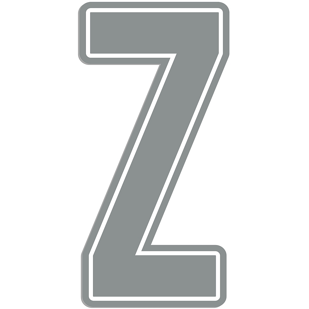Giant Silver Z Letter Outdoor Sign Image #1