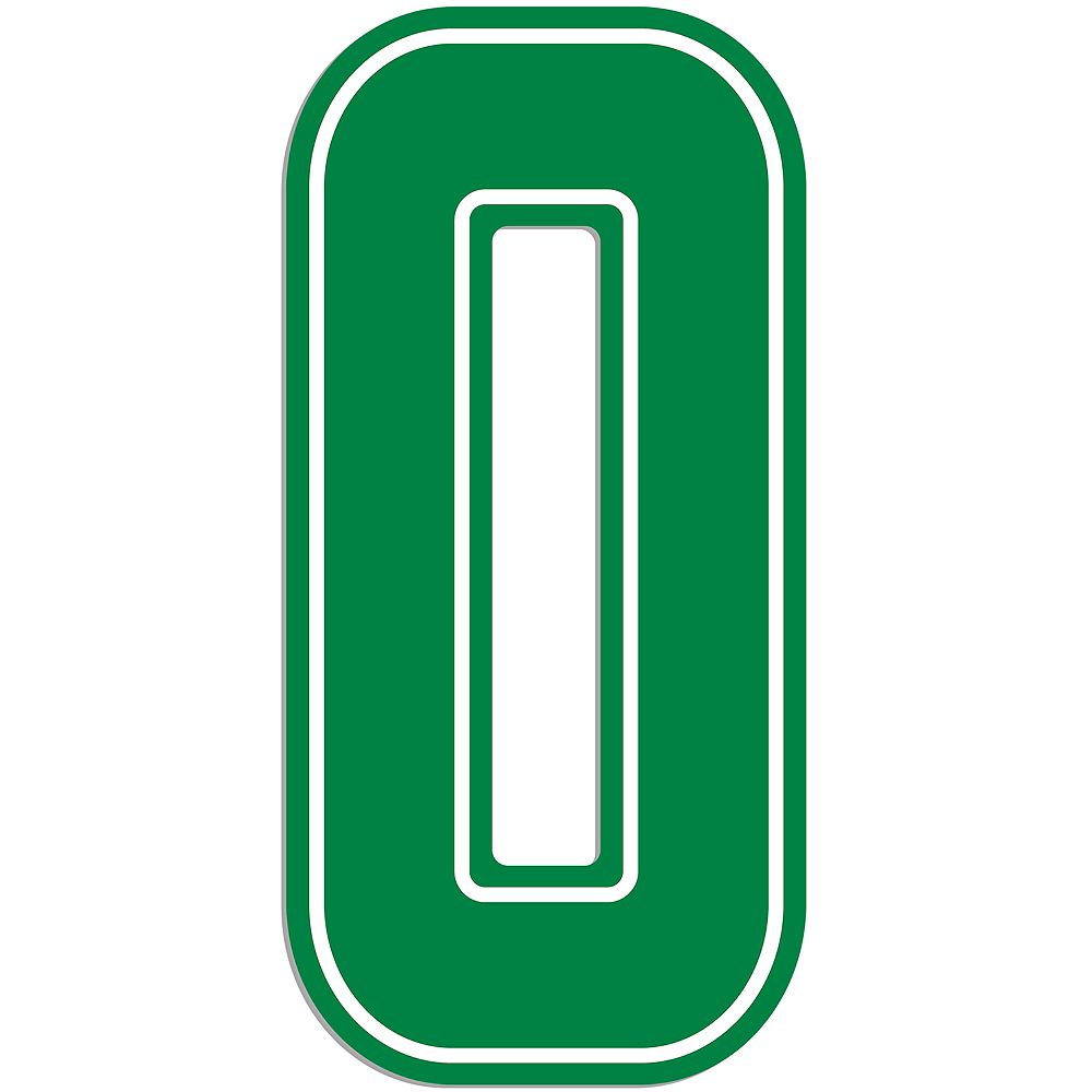 Giant Green 0 Number Outdoor Sign Image #1