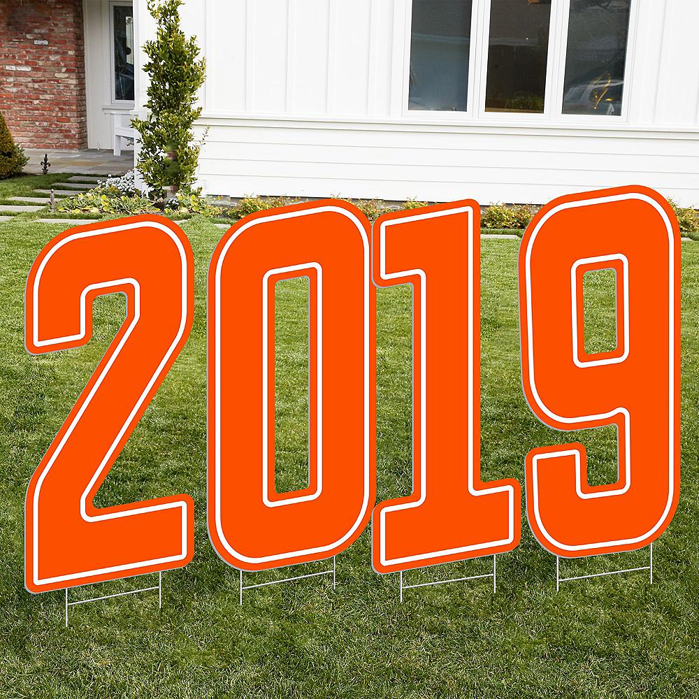 Giant Orange 0 Number Outdoor Sign Image #2