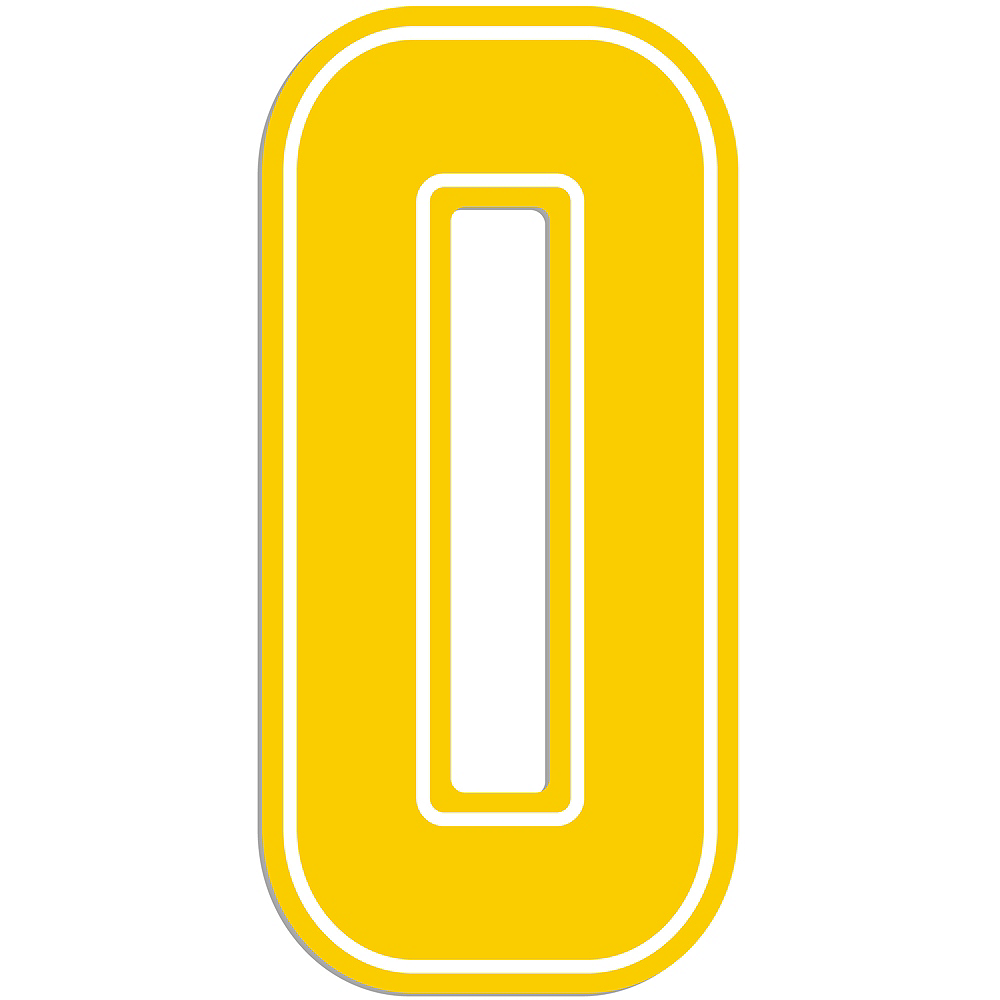 Giant Yellow 0 Number Outdoor Sign Image #1
