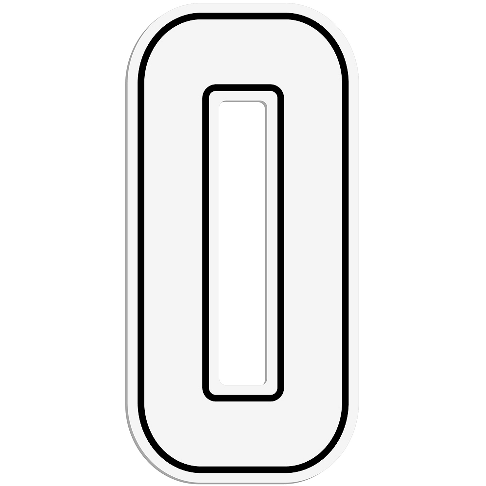 Giant White 0 Number Outdoor Sign Image #1