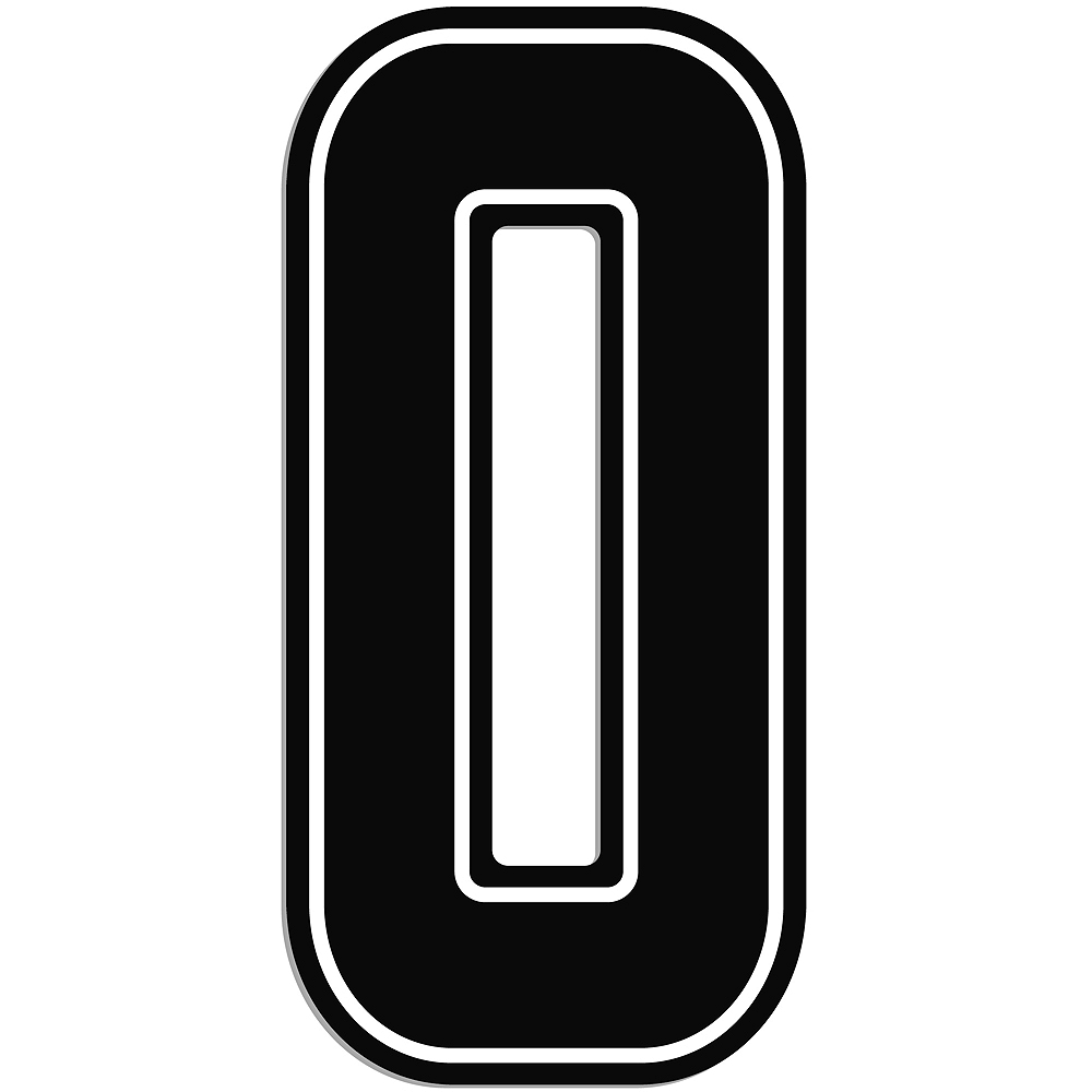 Giant Black 0 Number Outdoor Sign Image #1