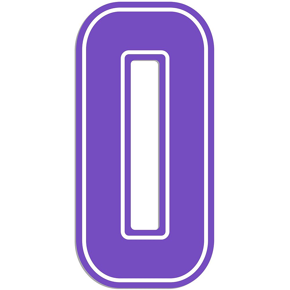 Giant Purple 0 Number Outdoor Sign Image #1