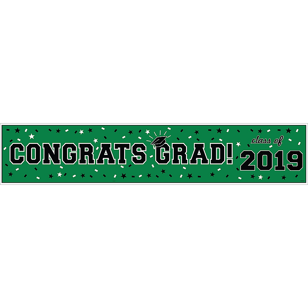 Green Graduation Vinyl Table Runner Image #2
