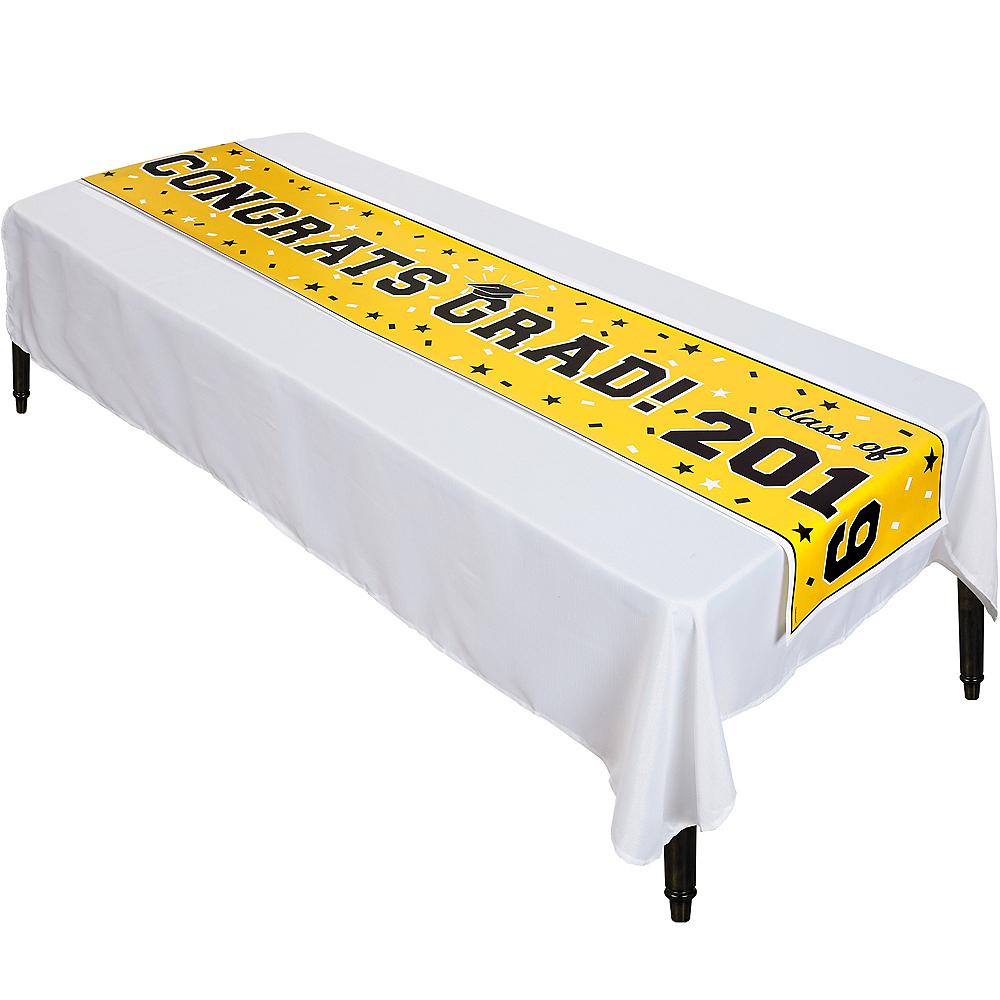 Yellow Graduation Vinyl Table Runner Image #1