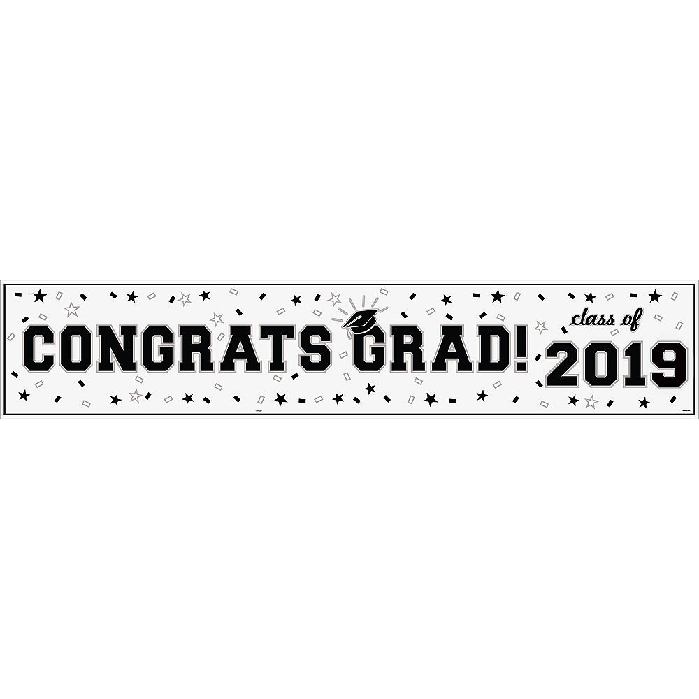 White Graduation Vinyl Table Runner Image #2