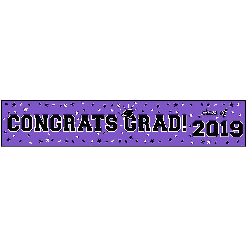 Purple Graduation Vinyl Table Runner Image #2