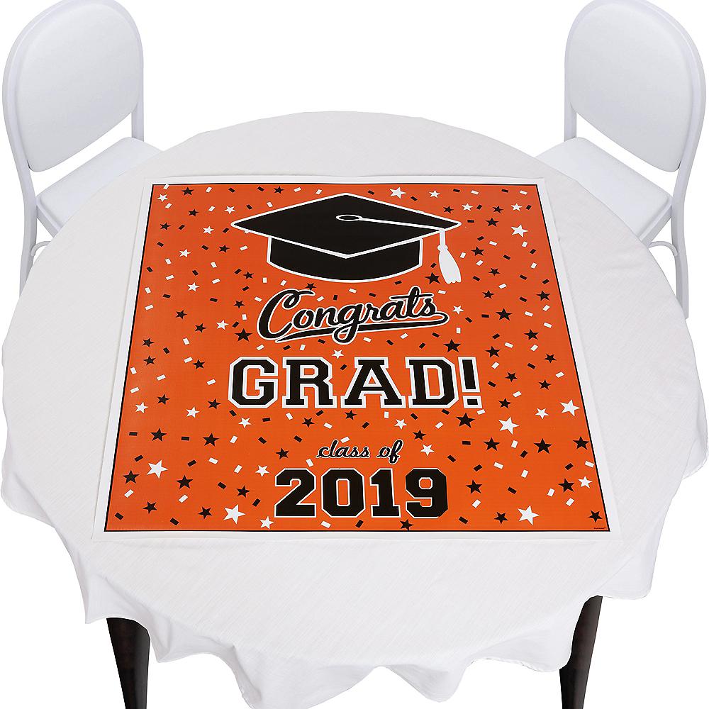 Orange Graduation Square Vinyl Table Topper Image #1
