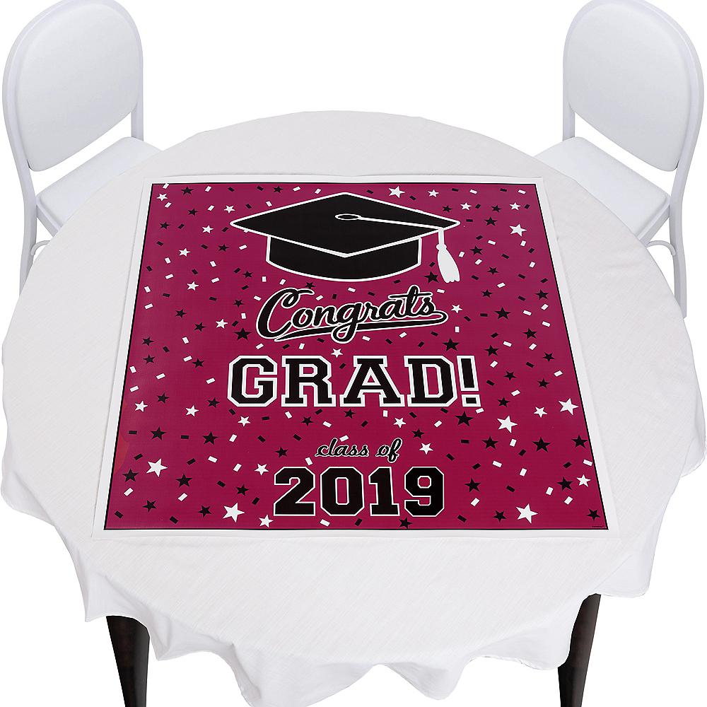 Berry Graduation Square Vinyl Table Topper Image #1