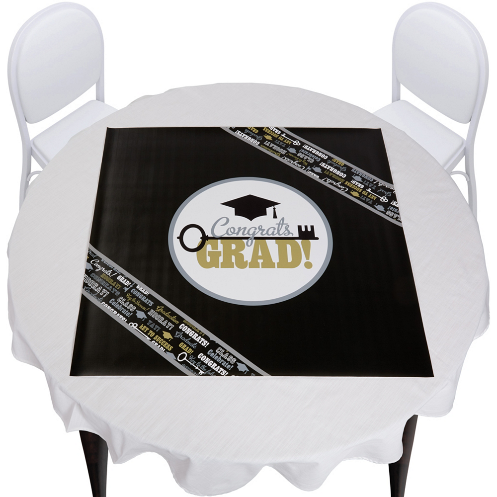 Keys to Success Graduation Square Vinyl Table Topper Image #1