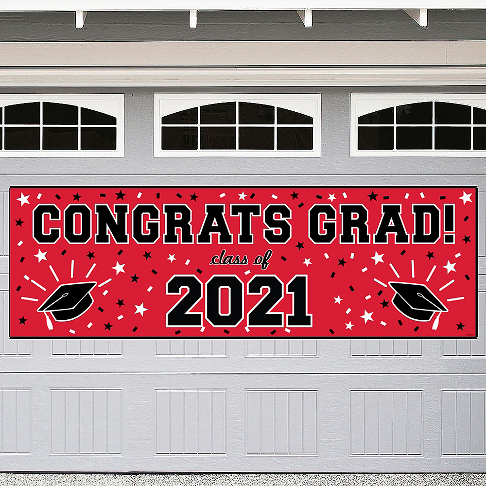 Nav Item for Red Graduation Outdoor Banner Image #1