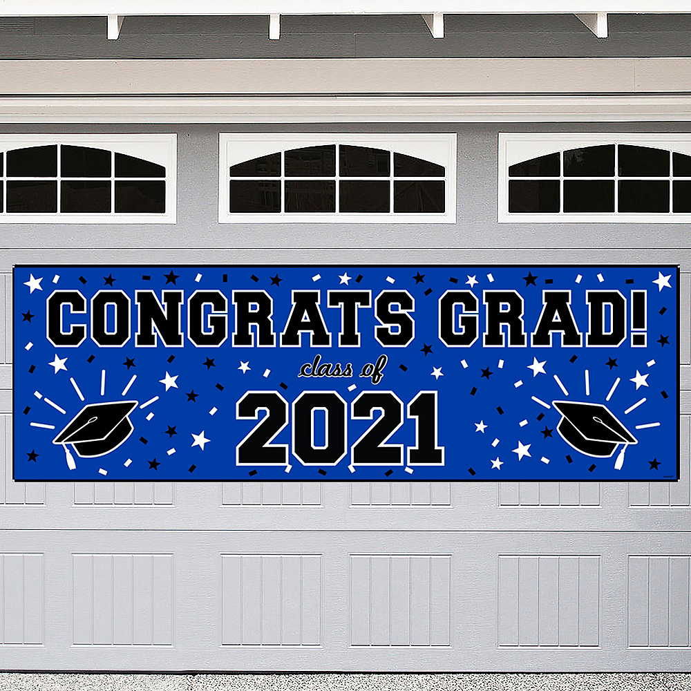Royal Blue Graduation Outdoor Banner Image #1