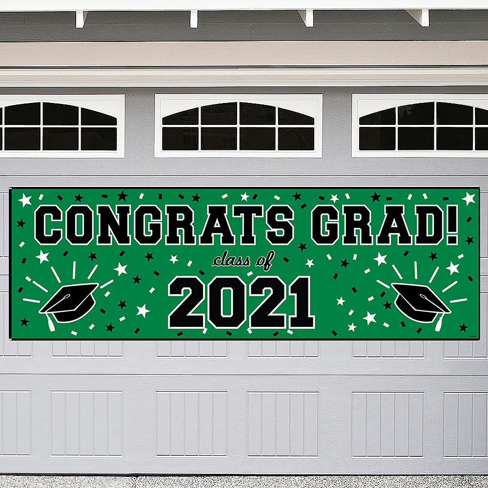 Green Graduation Outdoor Banner Image #1