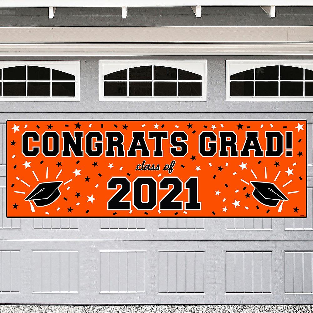 Orange Graduation Outdoor Banner Image #1