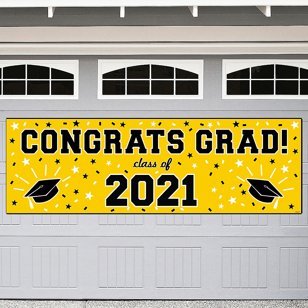 Yellow Graduation Outdoor Banner Image #1