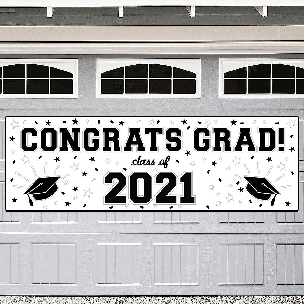 White Graduation Outdoor Banner Image #1