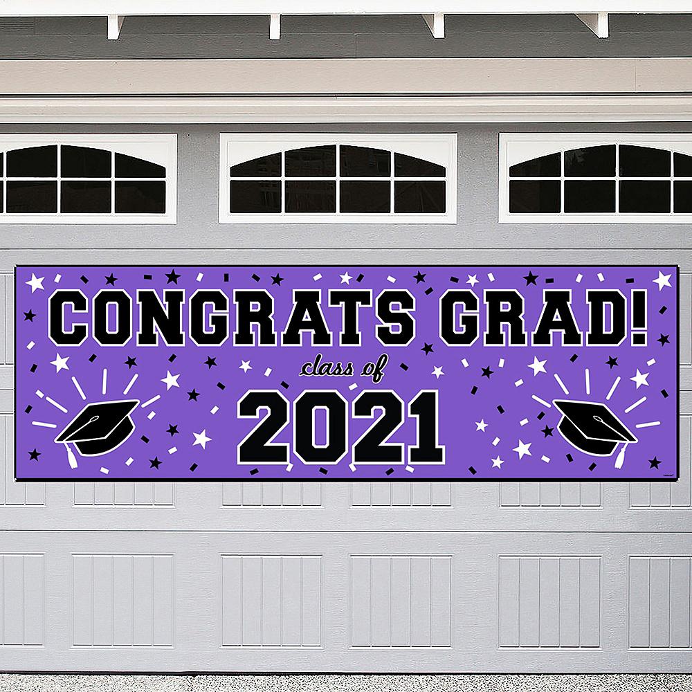 Purple Graduation Outdoor Banner Image #1