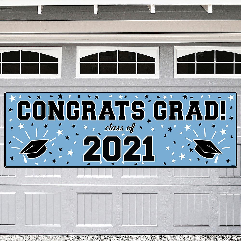 Pastel Blue Graduation Outdoor Banner Image #1