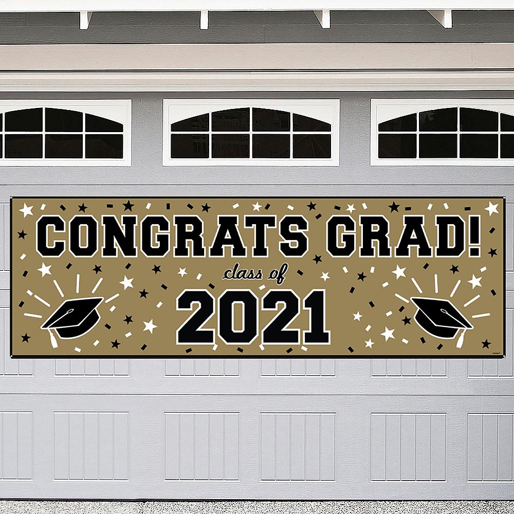 Gold Graduation Outdoor Banner Image #1