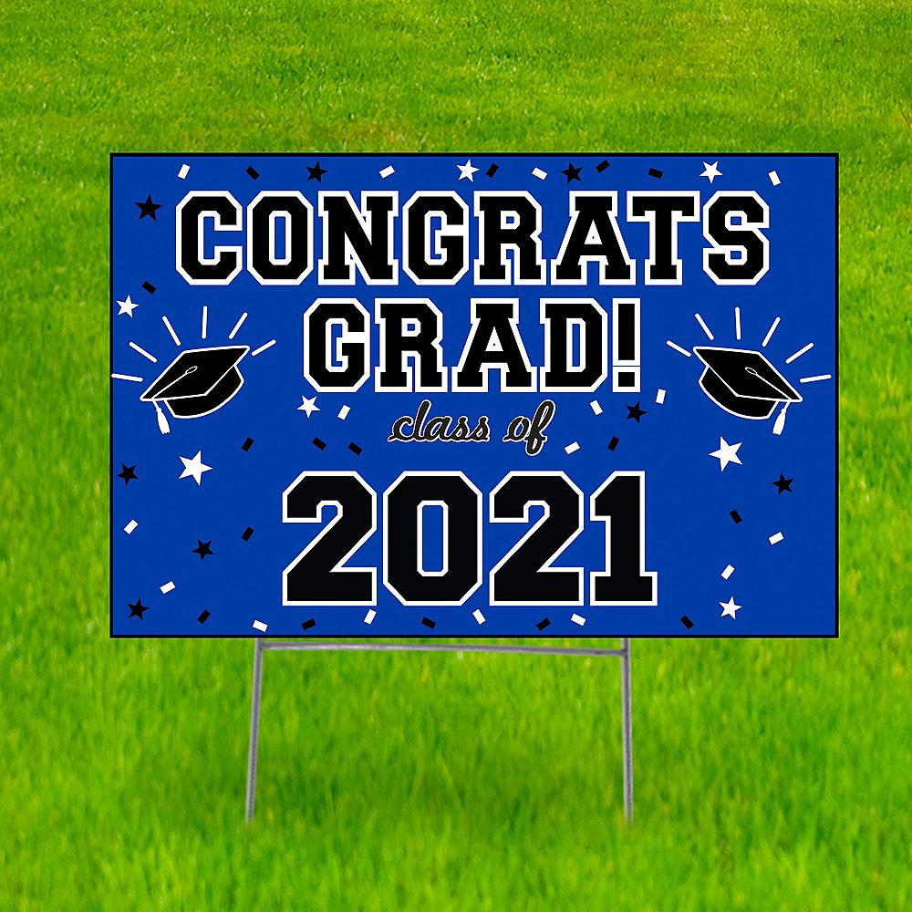 Royal Blue Graduation Yard Sign Image #1