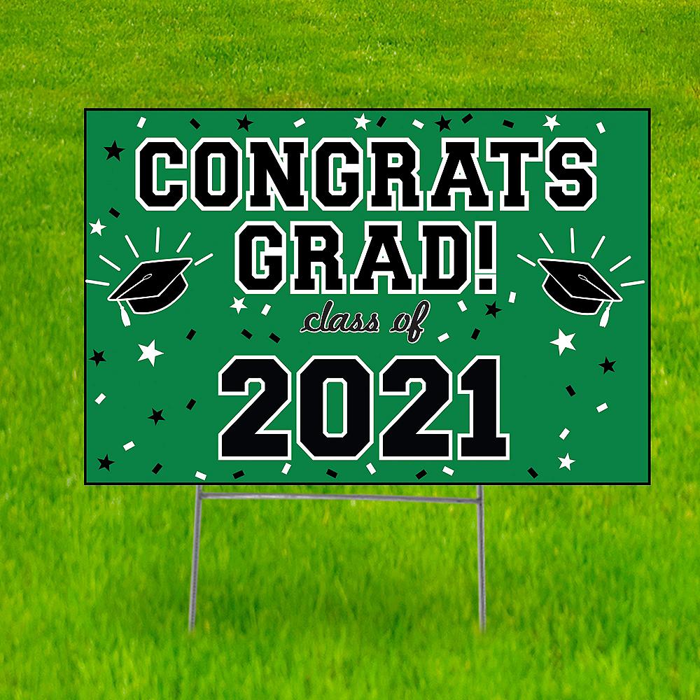 Green Graduation Yard Sign Image #1